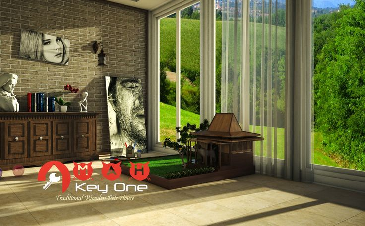 Rumah Anjing dari Kayu Jati (Wooden Dog House) Model Rumah Joglo | OMAH KAYU INDONESIA
