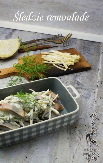 Kulinarne przygody Gatity - przepisy pełne smaku: Śledzie remoulade z selerem