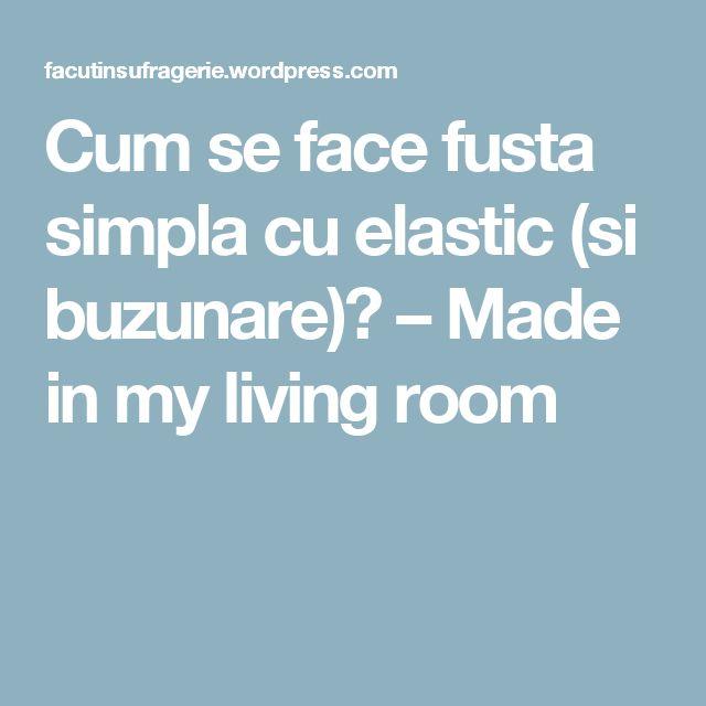 Cum se face fusta simpla cu elastic (si buzunare)? – Made in my living room