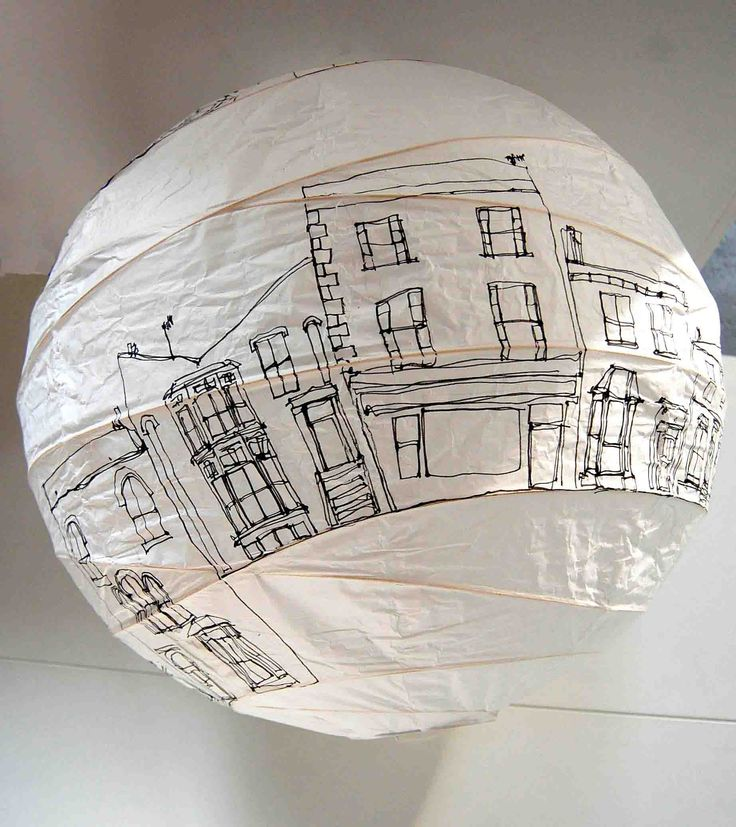 Agnes Jones - houses lampshade