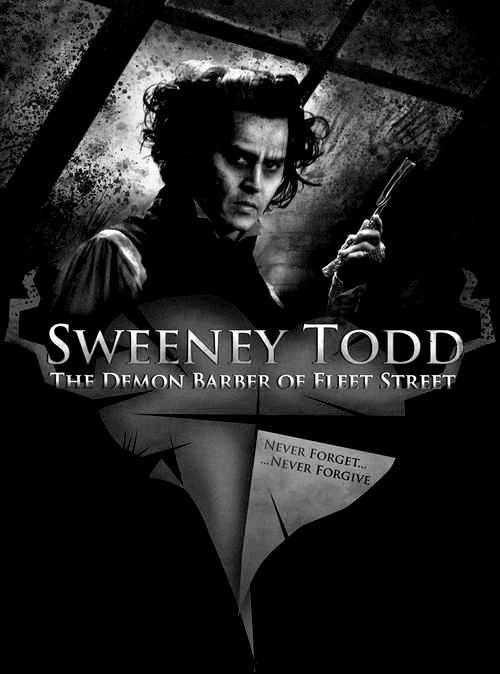 Sweeney Todd, a bowl of cauliflower & a glass of ice cold coke cola. There's genuinely nothing better.