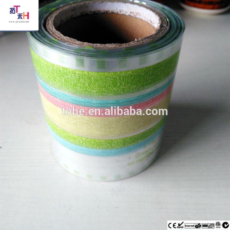 Full colour stripe film pet transfer film kids water cup film packing