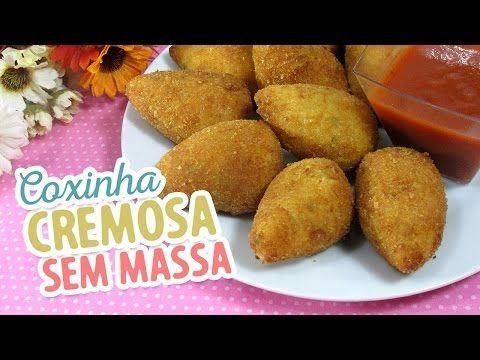 Coxinha Cremosa SEM massa - Amando Cozinhar - Receitas, dicas de culinária, decoração e muito mais!