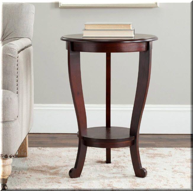 cherry wood end tables living room. Round Pedestal Accent Table Wood Dark Cherry End Tables Living Room  Furniture eBay Best 25 makitaserviciopanama com