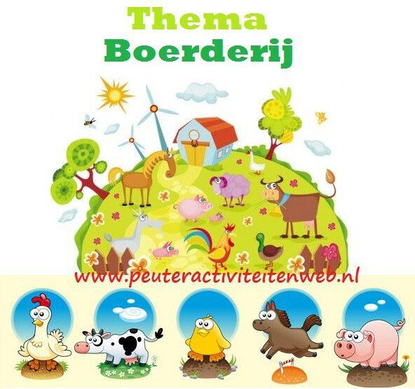 "Thema Boerderij met speel-oefenboekje ""op de boerderij"" www.peuteractiviteitenweb.nl"