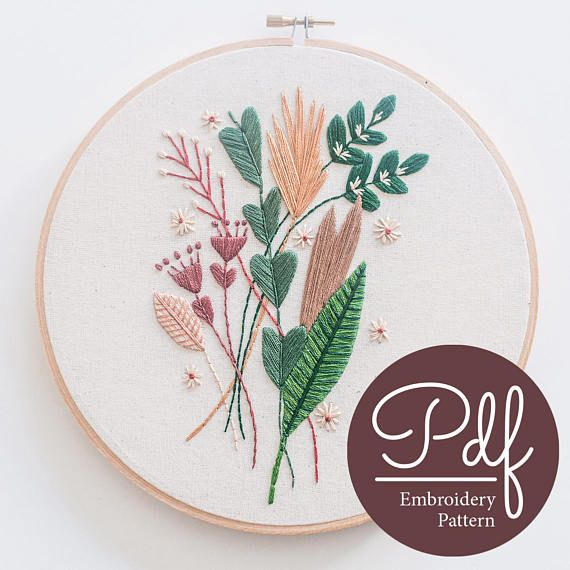 Falling For You  Embroidery pattern  PDF Digital Download