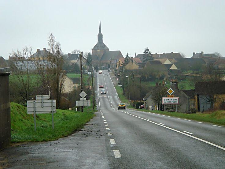 Domfront-en-Champagne, Sarthe. Pop: 971