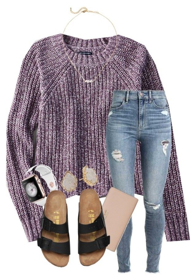 """""""i wanna try our for school volleyball next year but i'm scared i won't make it :/"""" by samanthars ❤ liked on Polyvore featuring American Eagle Outfitters, Kate Spade and Kendra Scott"""