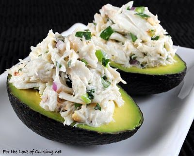 Cilantro and Lime Crab Salad in Avocado Halves:: Crabsalad, Fun Recipes, Avocado Halv, Cilantro, Lunches, Savory Recipes, Limes Crabs, Crab Salad, Crabs Salad
