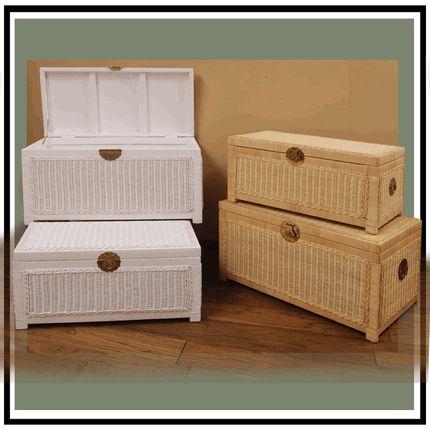 Wicker Storage Trunk Set