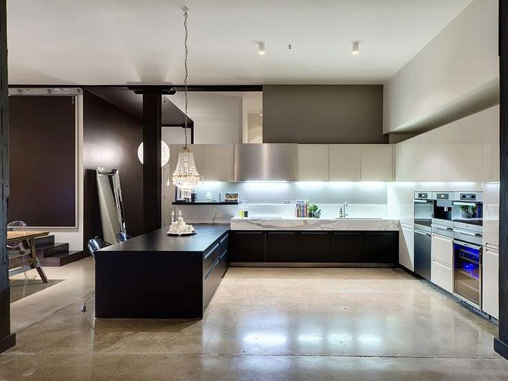 Apartments, Exotic Contemporary Apartment With Elegant Kitchen Design Beautified With The Chrome Scouring Pad And Sink Also Contemporary Oven And Burner: Contemporary Apartment Style for Comfortable Living
