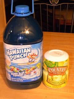 Tiffany Punch  All you need is powdered country time lemonade, and blue hawaiian punch. Prepare lemonade as instructed on container, Mix 1 part lemonade and one part hawaiian punch. I made 3 cups lemonade and 3 cups hawaiian punch. The original recipe says it tastes like a jolly rancher. To me, it just tastes like lemonade, maybe I need a little more punch. It's still really good though!