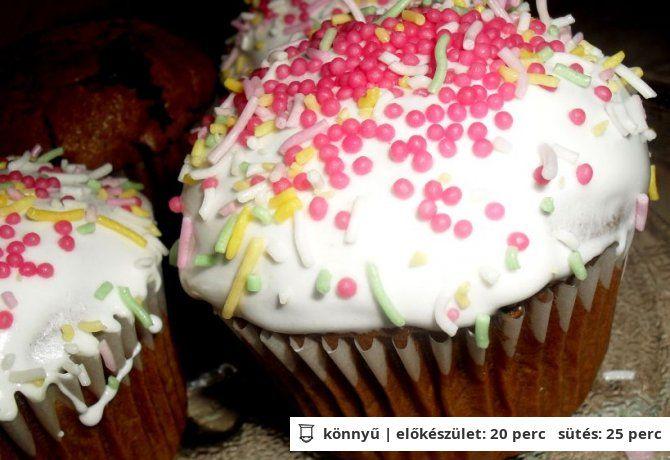 Csokis muffin tojáshab kalappal   NOSALTY – receptek képekkel
