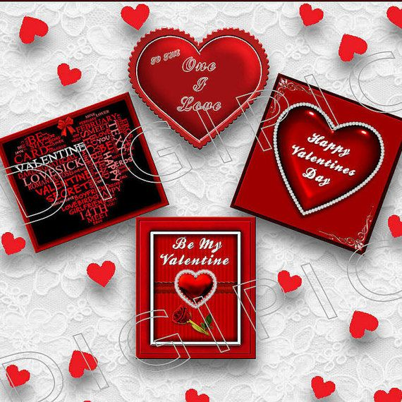 COMMERCIAL USE OK 4 Digital Valentine Heart Scrapbook by DigiPic1