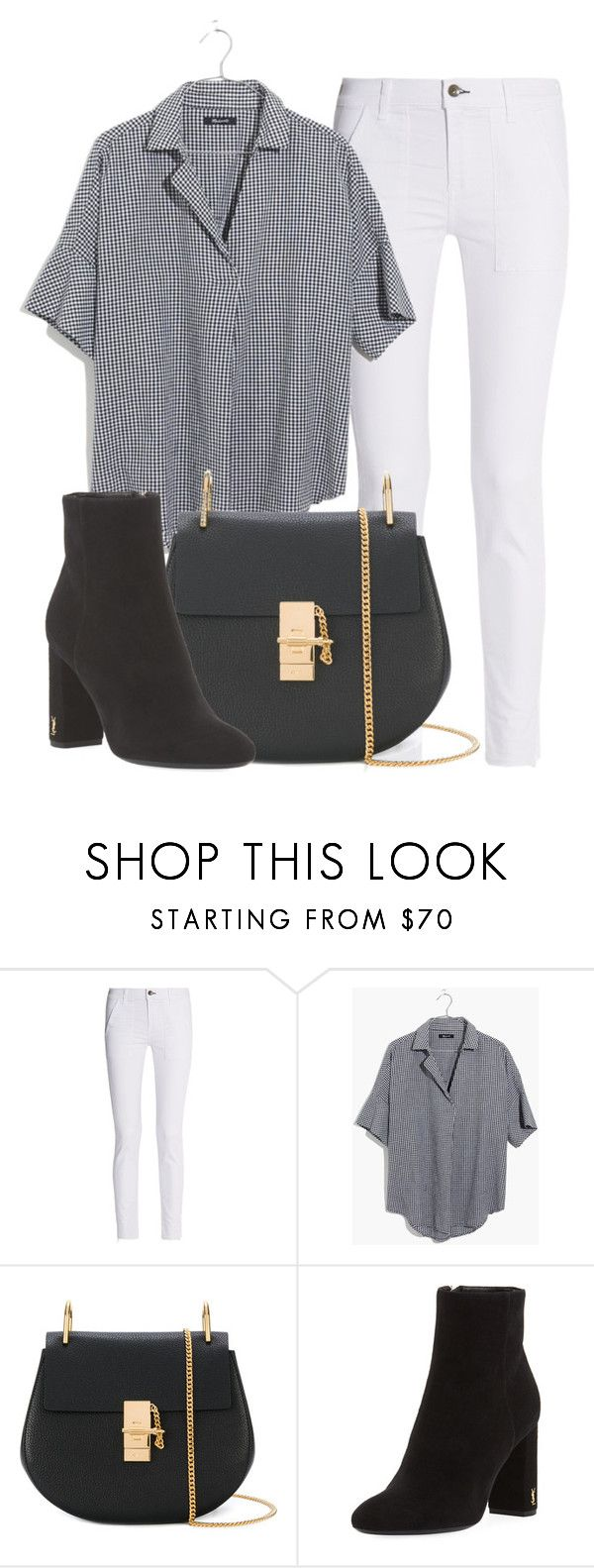 """Outfit #1814"" by lauraandrade98 on Polyvore featuring moda, rag & bone, Madewell, Chloé y Yves Saint Laurent"