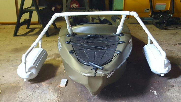 Outriggers for fishing kayak.