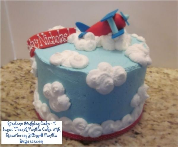whimsical airplane cake