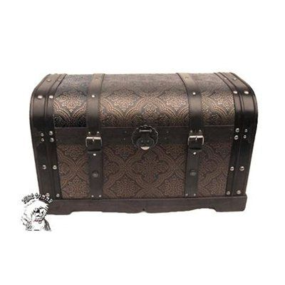 Phat Tommy 207-TRUNK.6346 Rounded Top Victorian Decorative Trunk