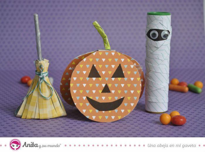 3 manualidades para #Halloween con papel muy fáciles de realizar.  #scrap #craft #Anitaysumundo