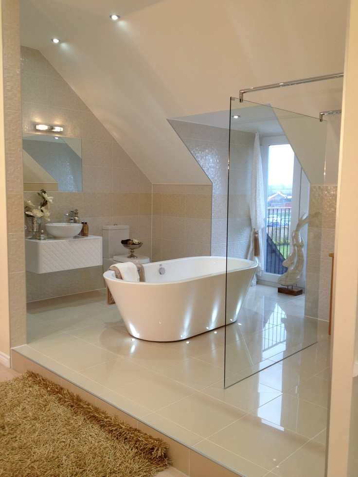 Luxury open plan ensuite beautiful bathrooms and for Open plan bedroom bathroom ideas