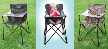 Ciao! Baby Portable High Chair is another invention by moms, looks like a camping chair suitable for babies and toddlers