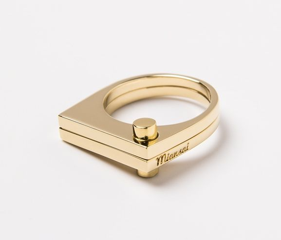 MIANSAI - Modern flat ring, gold-plated. Made in the USA.