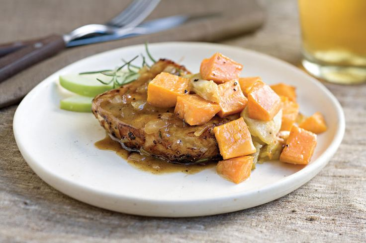 Savory Apple Marinade - Easy Pork Chop Marinades - Southernliving. Recipe: Savory Herb Pork Chops  The apple juice, mustard, and brown sugar creates an ultra-savory marinade for pork chops.