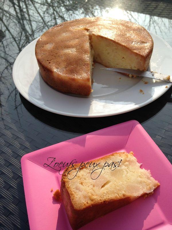 Gâteau fondant aux poires sans oeufs
