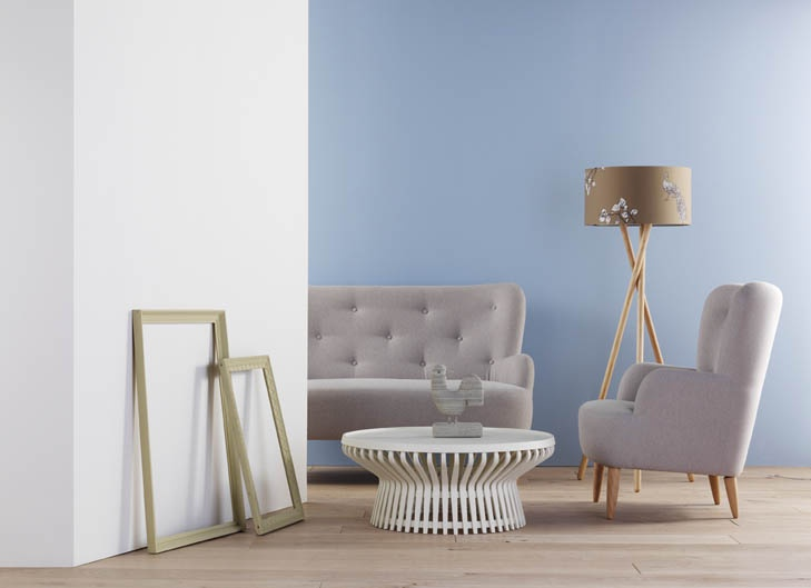#habitatpintowin Paper, Olive and Sky paint with Wilmot sofa and armchair #Habitat