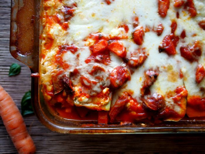 Protein Rich Zucchini Noodle Lasagna With Cottage Cheese