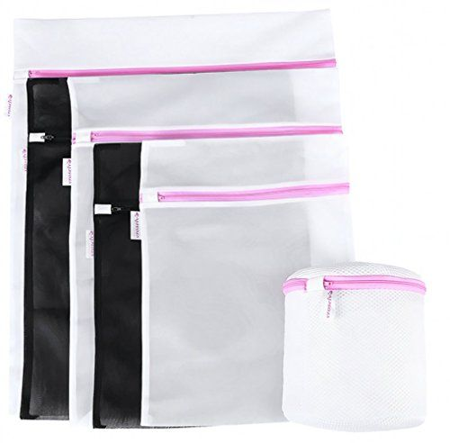 VROSELV Washing Bags Mesh Laundry Travel Bra BagsBlack and White Wash Bag  Set Of 6White1 Medium1 Large1 Xlarge And Black1 Medium1 Large And 1 Large BraBra Entire PE Floating Material *** Want to know more, click on the image.
