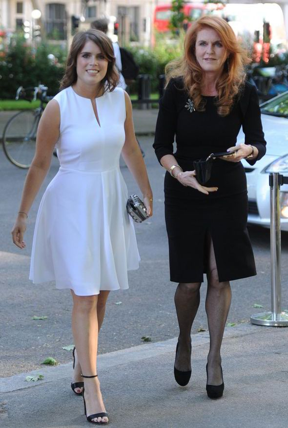 cressida bonas, princess eugenie, sarah duchess of york, art gala, racy backless top