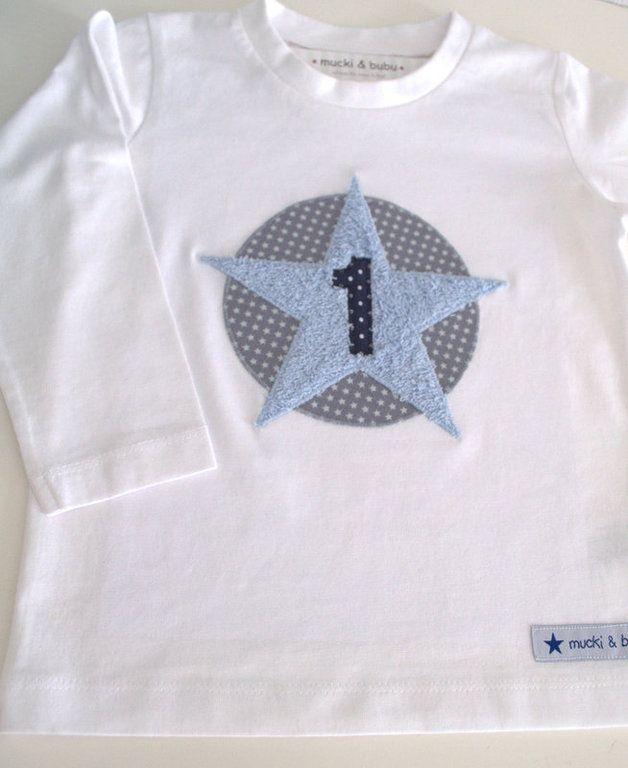 Langarmshirts - Geburtstagsshirt 1. Geburtstag! - ein Designerstück von mucki-und-bubu bei DaWanda