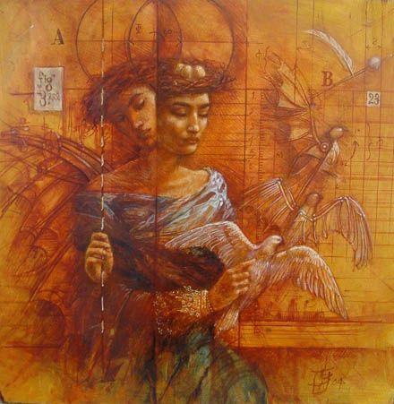 "Jake Baddeley  ""Conception""  Oil on canvas, 2004."