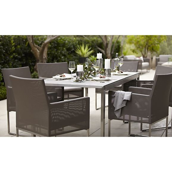 Shop Dune Rectangular Dining Table With Pebbled Glass. The Dune Outdoor  Dining Table With Pebbled Glass Is A Crate And Barrel Exclusive.