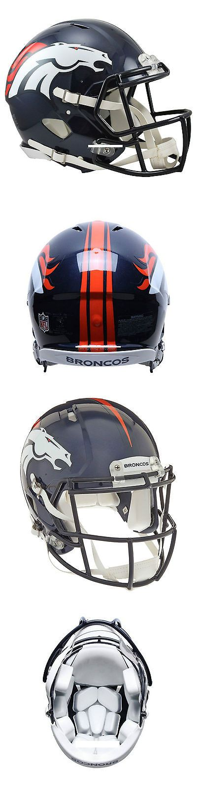 Helmets and Hats 21222: Denver Broncos Riddell Authentic Speed Football Helmet -> BUY IT NOW ONLY: $199.99 on eBay!