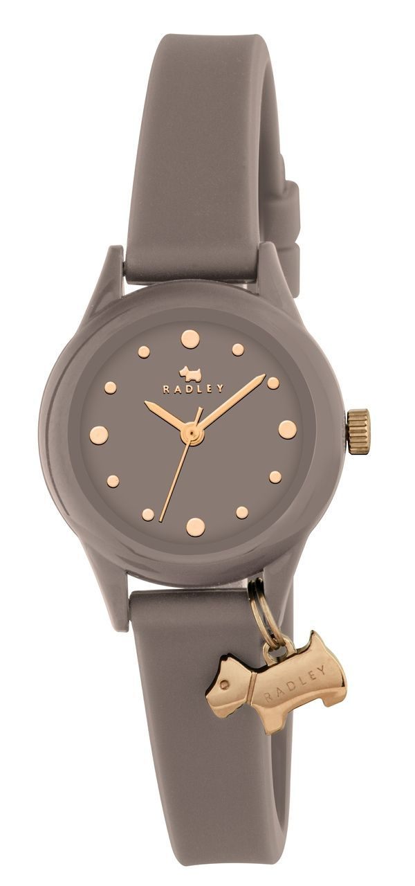 Radley Ladies Watch It Grey Silicone Watch With Dog Charm RY2322