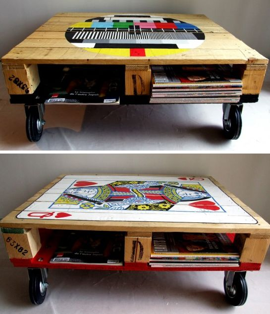 Great idea for lego table! Could roll it under bed when not being used!