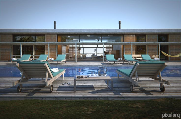 Pool - House -Beach Day exterior   #Architecture #MaxwellRender #Rendering #3d #Blender3d #Render