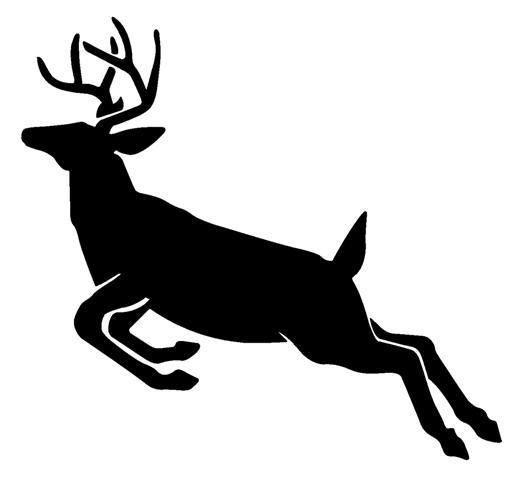 Deer jumping. Best hunting silhouettes