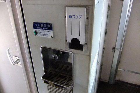 新幹線内にあった水飲み場