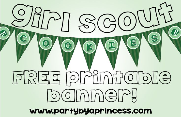 Free Girl Scout Cookie Printable Banner!
