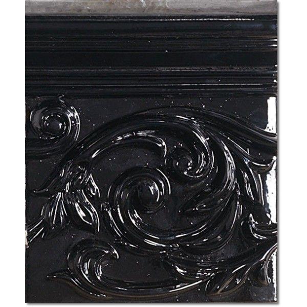 Kolekcja Vintage - płytki ścienne Dec. Vintage Poesia Black 17,8x15