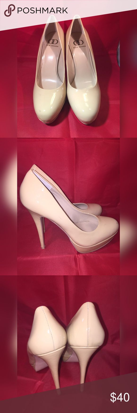Nude patent pumps by Kelsi Dagger Used a couple of times Kelsi dagger nude patent pumps size 8.5. In good condition Kelsi Dagger Shoes Heels