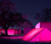 Pink camping tents!
