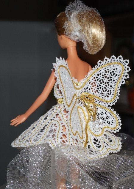 Advanced Embroidery Designs - FSL Battenberg Fairy Wings for 12-inch Dolls