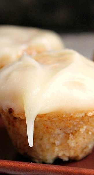 cinnamon roll muffins with cream cheese frosting...