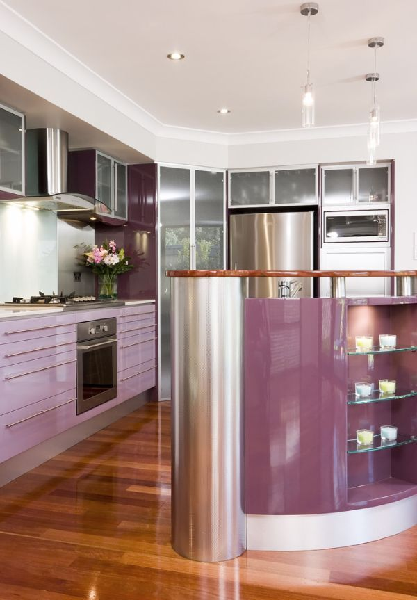 kitchens on Pinterest  Purple kitchen, Contemporary kitchens and