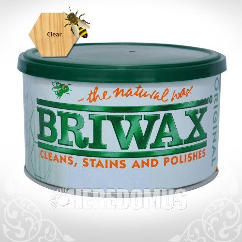 WAX PASTE BRIWAX CLR 1# by Briwax. $11.78. Briwax is a solvent based blend of beeswax and carnauba wax. Briwax has long been recognized by furniture restoration professionals as a premiere, multi-purpose furniture wax. It produces a lustrous patina, not a glossy surface shine. It is suitable for use as a finish on new wood or stripped furniture, a reconditioner for old or damaged finishes, a furniture wax for fine furniture and antiques or an antiquing agent where the des...