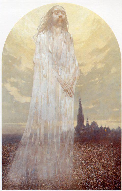 XVIII Estción La Ascensión de Cristo. Gólgota de Jasna Góra, del pintor polaco Jerzy Duda Gracz.